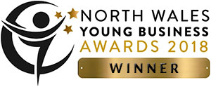 North Wales Young Business Awards winner 2018 logo
